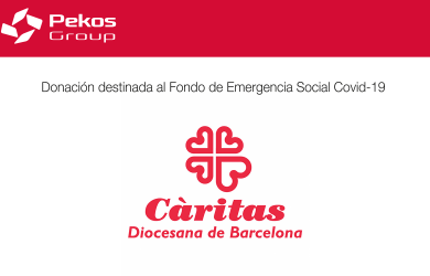 Pekos Group cooperates with Caritas